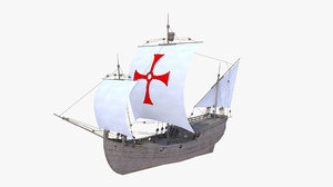 la pinta ships 3d model