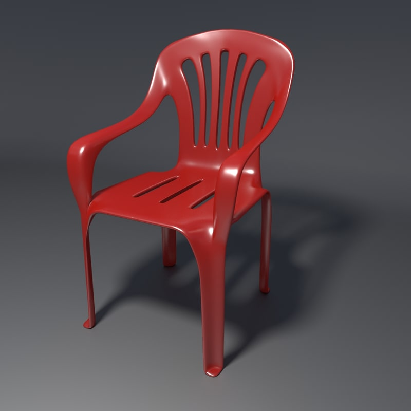 realistic chair 1 3d model