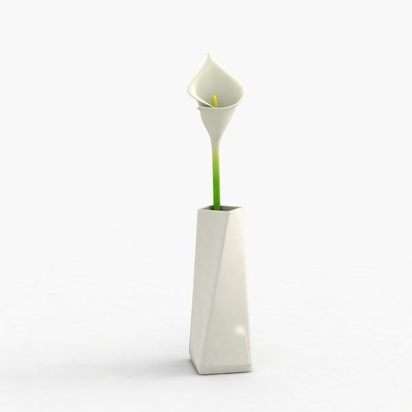 modern vase flower 3d max