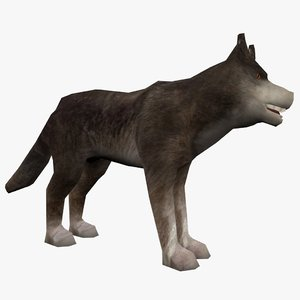 3d rigged wolf