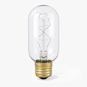 3d model vintage cylindrical-shaped edison light bulb
