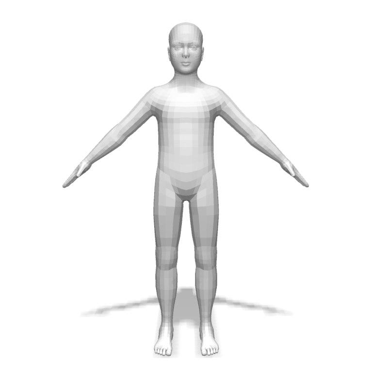 3d boy base body