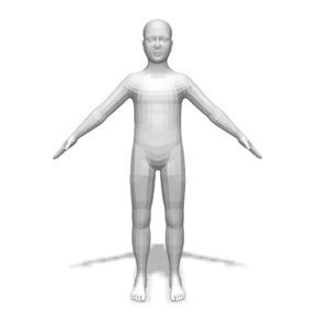3d boy base body