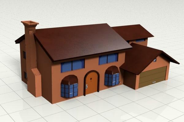 simpsons house games 3d model