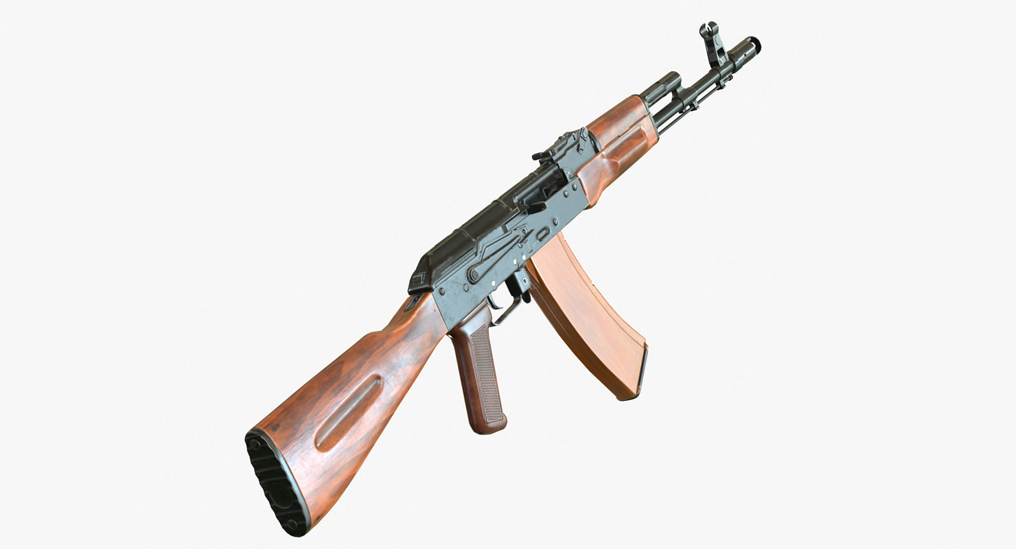3d low-poly ak-74
