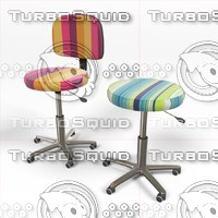chairs stools 3d 3ds