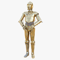 c-3po star wars 3d obj