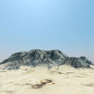 3d model of desert plateau