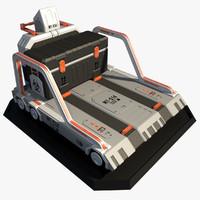 3d model sci fi lift platform