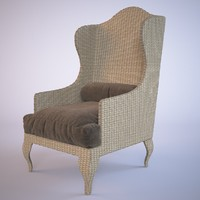 rotang armchair 3d max