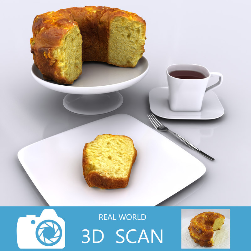 scanned cake 3d max