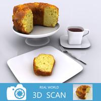scanned cake 3d model