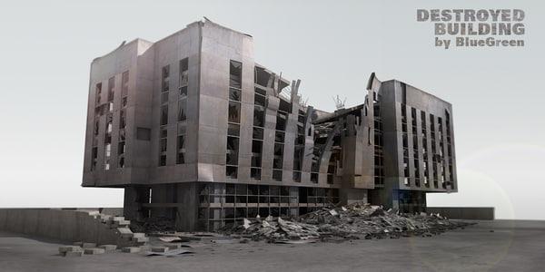 lightwave destroyed building