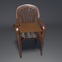 realistic chair 2 3d blend
