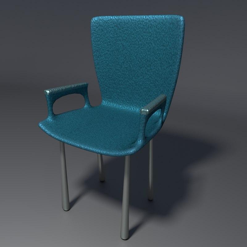 3d blend realistic chair 3