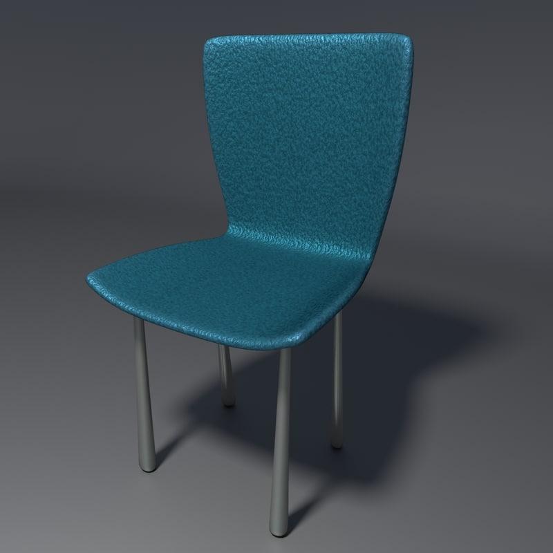 realistic chair 3 blend