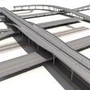 3d highway streets construction sidewalk model