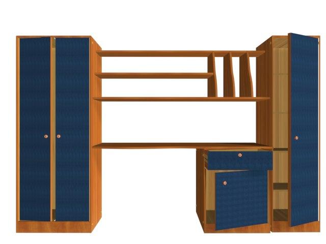 3d furniture bedroom model