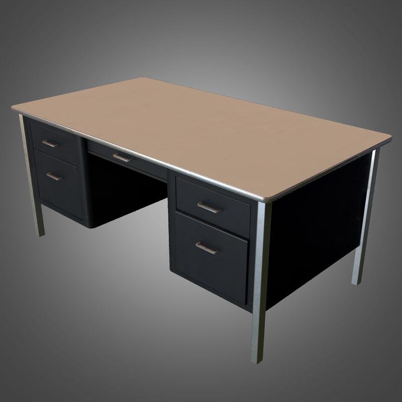 office desk - ready 3d fbx