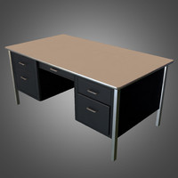 office desk - ready 3d fbx