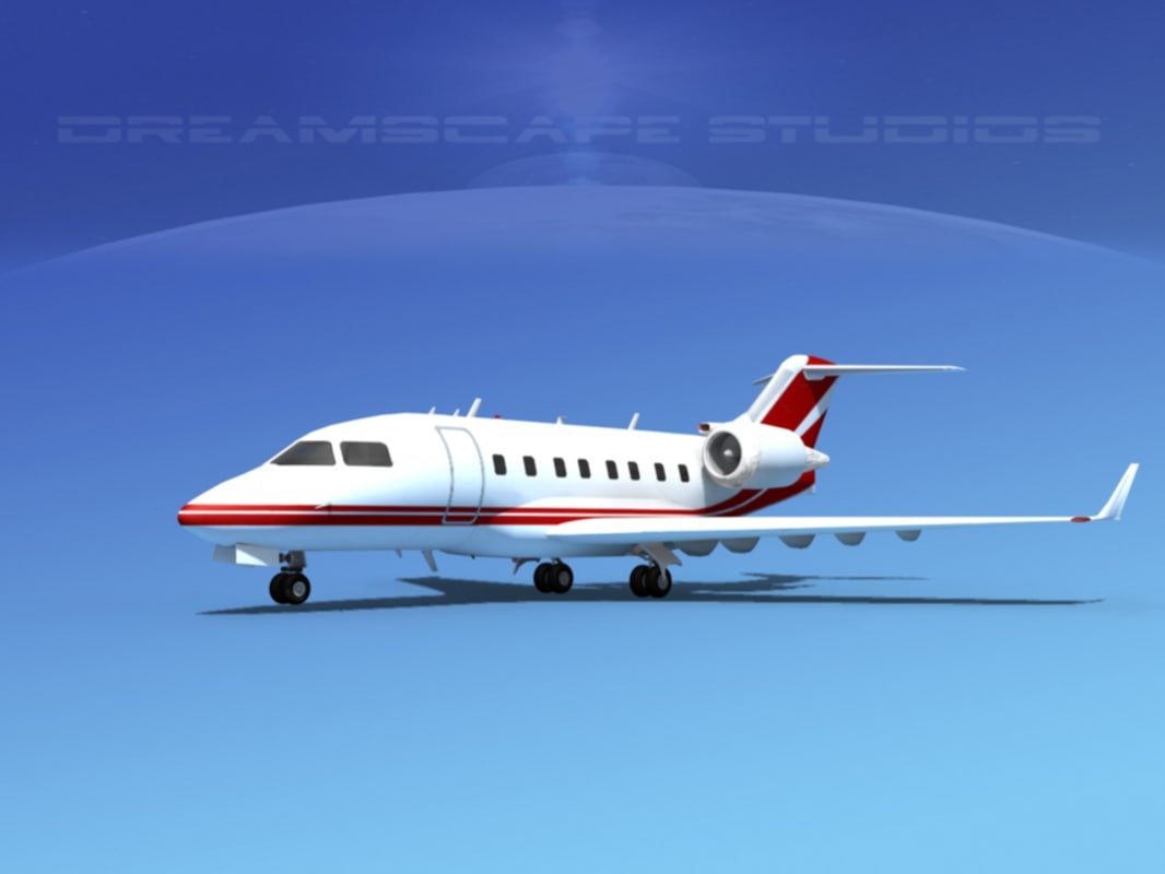 3d model of cl-605 bombardier challenger