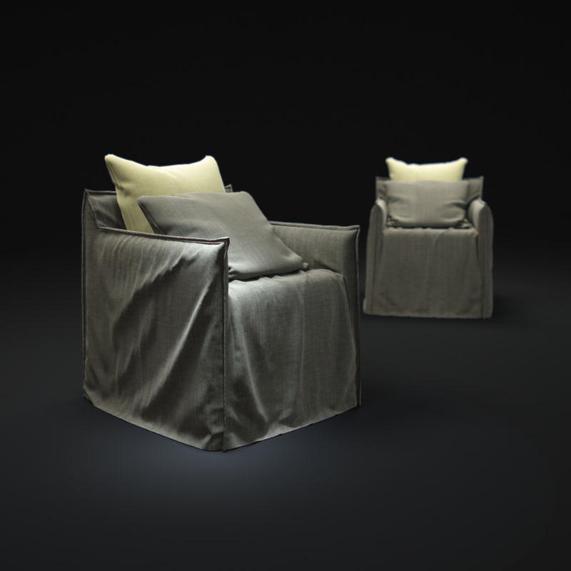 3d model ghost-05-armchair