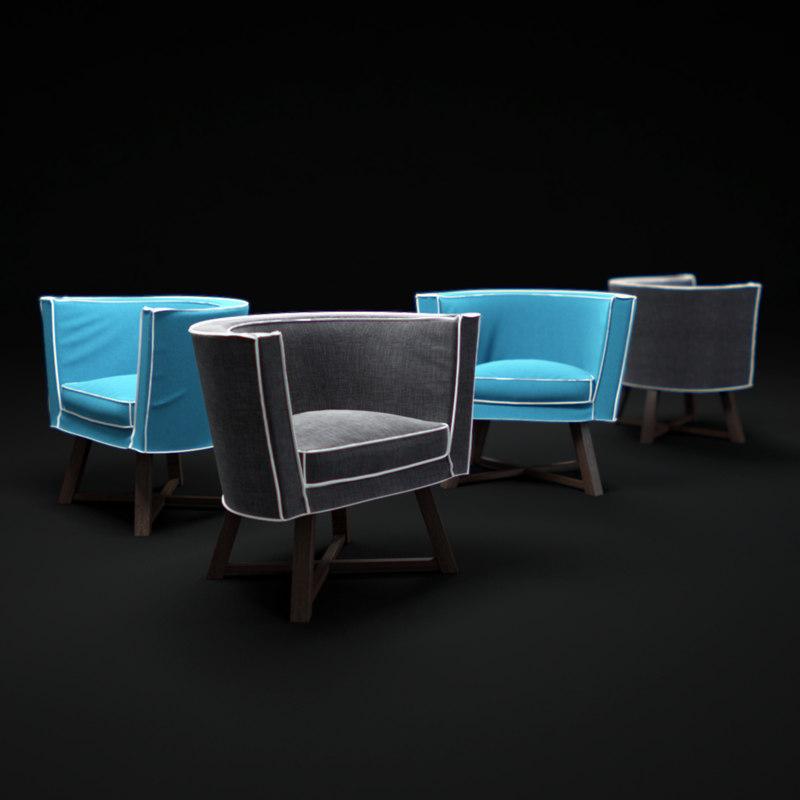 gray-08-armchair 3d max