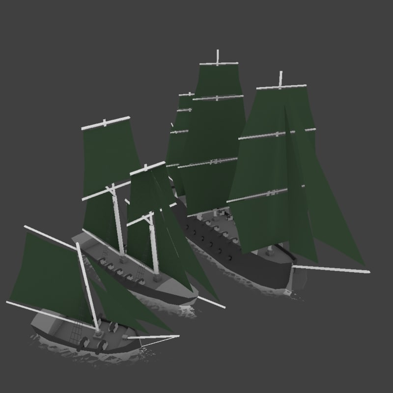 3d sail ship model