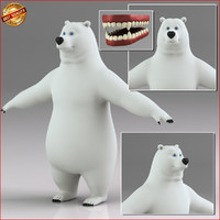 Cartoon Polar Bear Biped