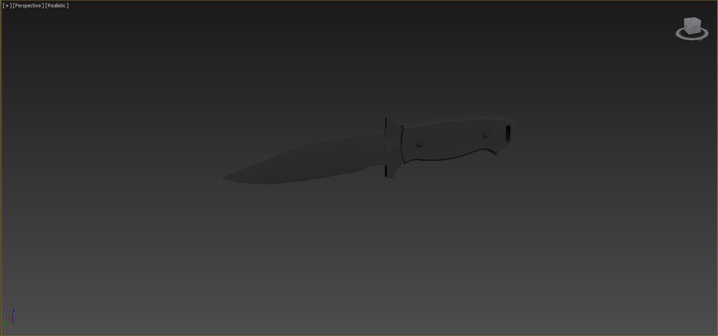 3d model bear ops combat knife