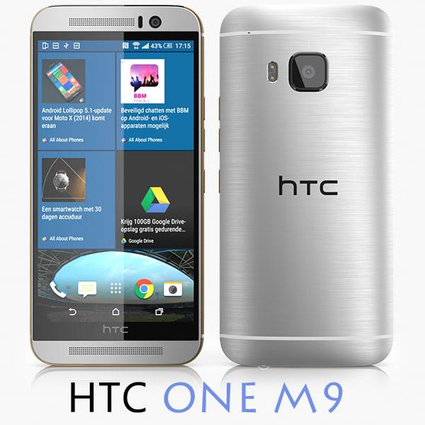 htc m9 3d model