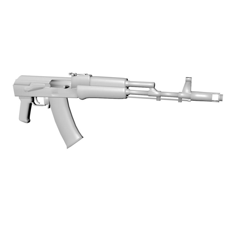 3ds ak-101 rifle butt