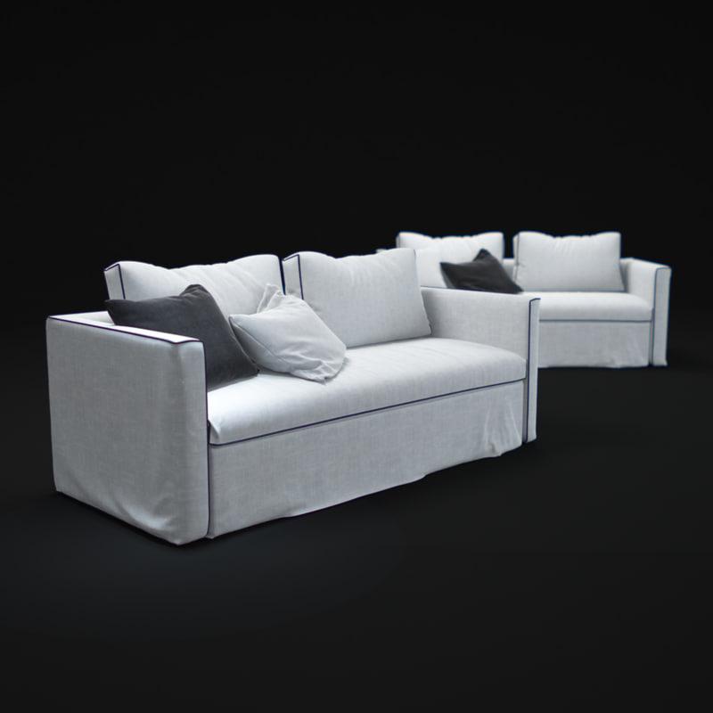 3d model law-dormeuse-sofa