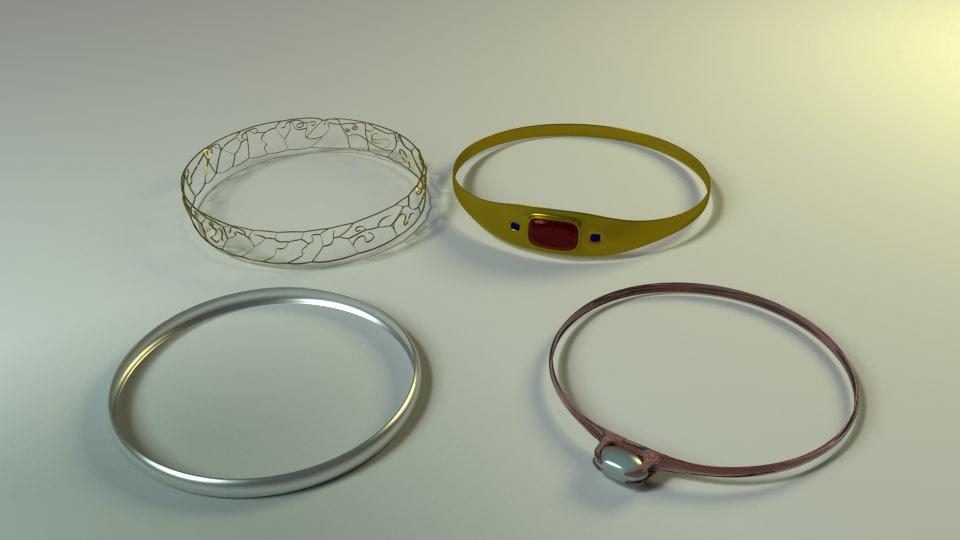 rings wedding fantasy 3d model