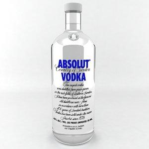 absolut vodka bottle max