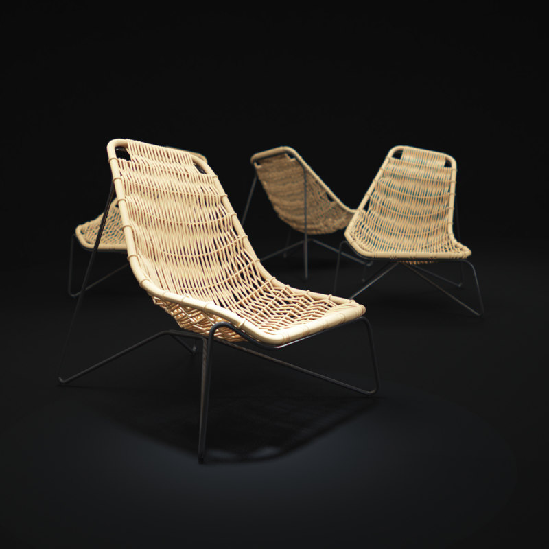 tina-rattan-chair-by-expormim 3d model