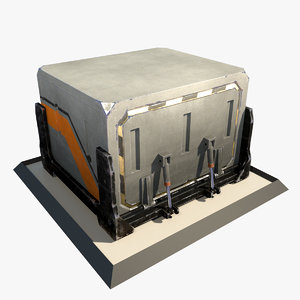3d futuristic container