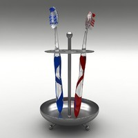 toothbrushes stand 3d model