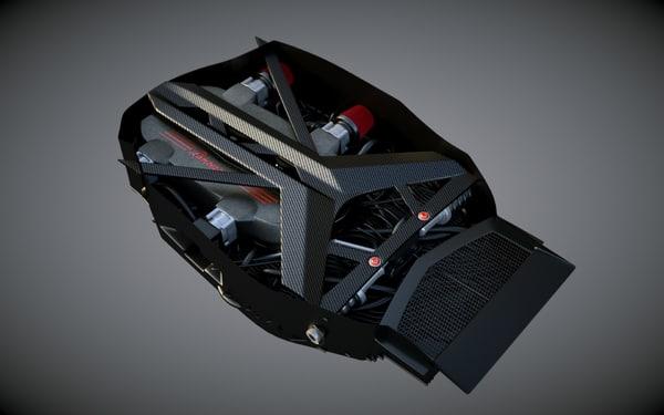 3d model lamborghini engine