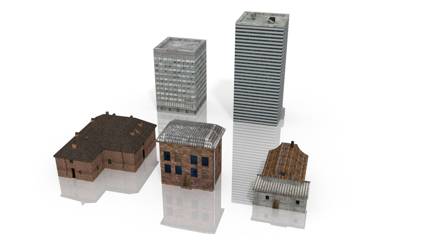 houses skyscraper 3d model
