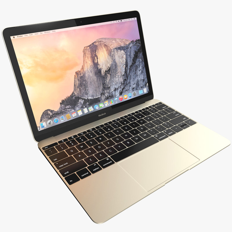 3d model realistic apple macbook 2015