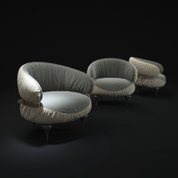 chubby-chic-armchair 3d model