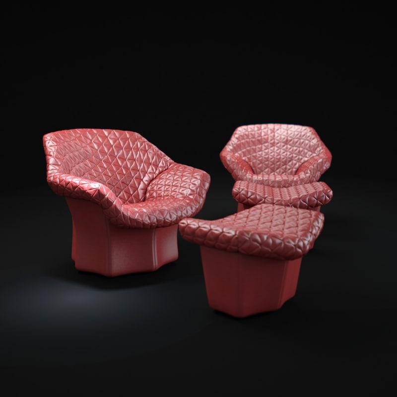 3d model juliet-armchair