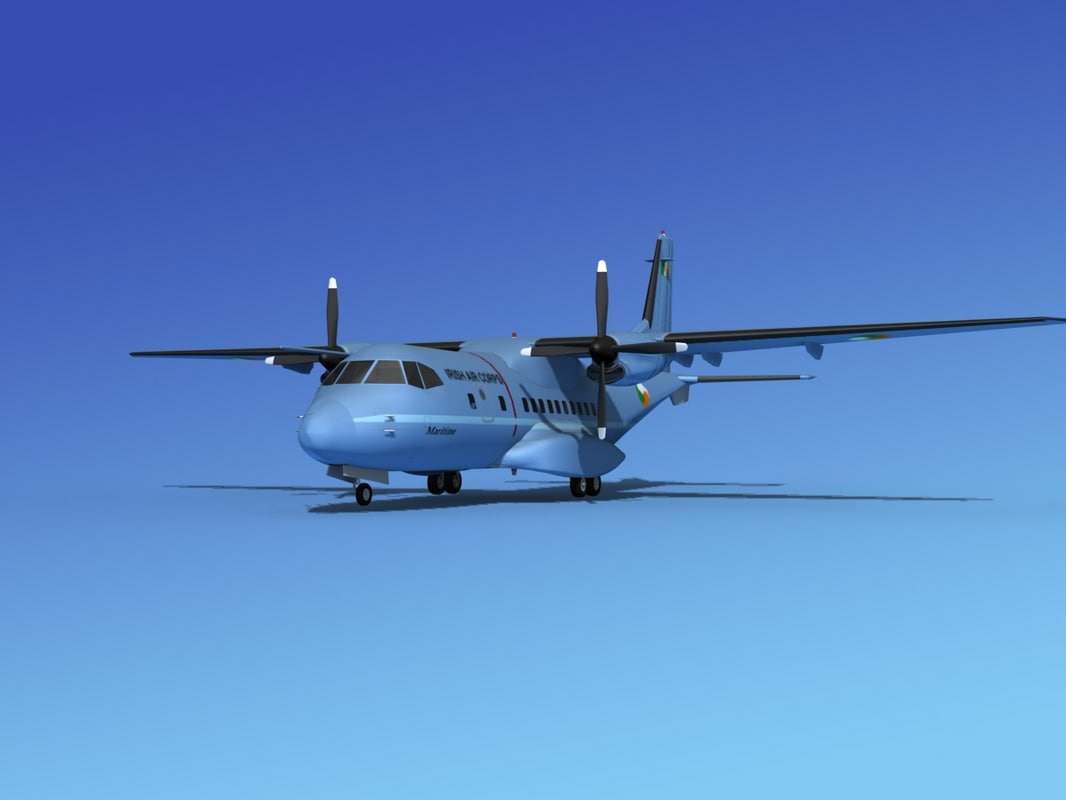 3d propellers casa cn-235 transport model