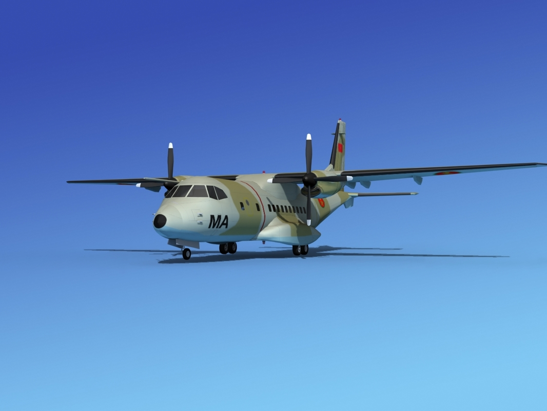 3d model cargo casa cn-235 air force