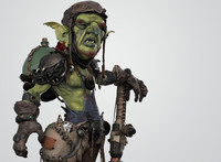 3d model goblin character wrench
