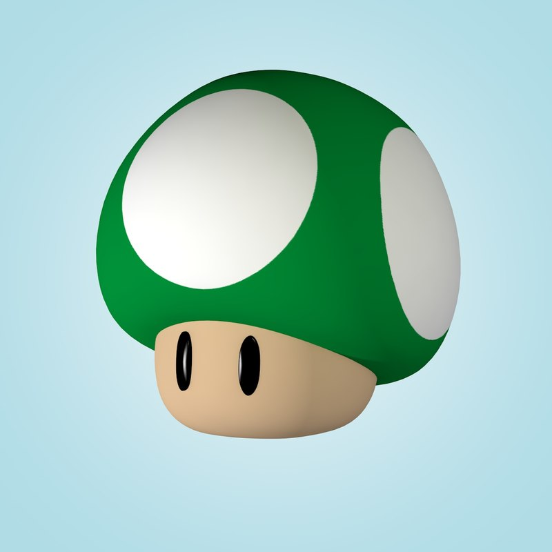 cinema4d super mario green mushroom