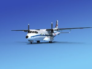 propellers casa cn-235 transport 3d max