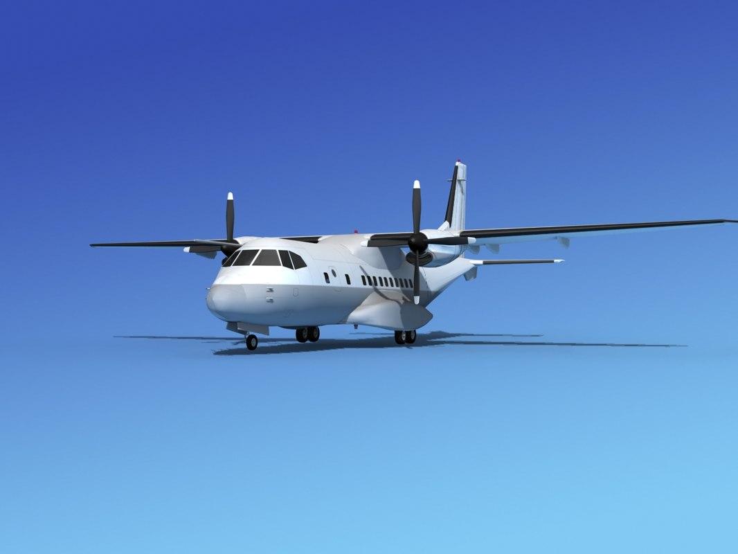 3d model propellers casa cn-235 transport