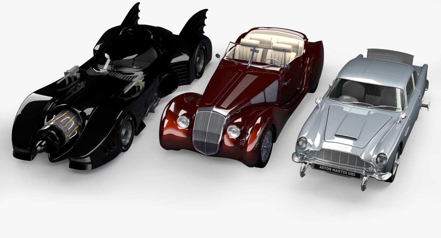 3d cars vehicle batmobile model